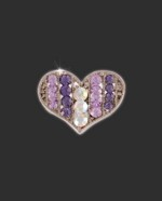 Bra Strap Bling Multi Heart