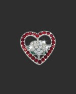 Bra Strap Bling Double Heart