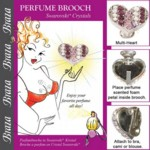 Brooch For Perfume Multi Heart
